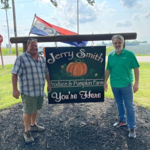 Patrick Fitzgerald at Jerry Smith Farms